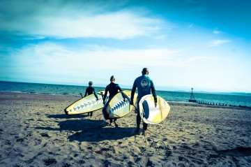 EX feature on Liquid Motion and their stand up boarding classes in Exmouth.